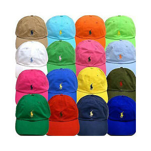 Polo Ralph Lauren Mens Chino Adjustable Ball Cap Hat VARIETY COLORS ... 4f8449e9869