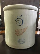 VINTAGE 5 GALLON RED WING CROCK