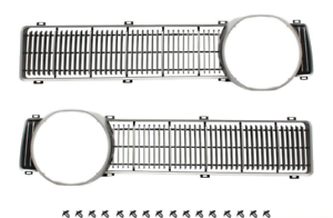 FALCON XY GT GRILLE INSERT LH + RH ARGENT - J&M Old Skool Parts and Panels