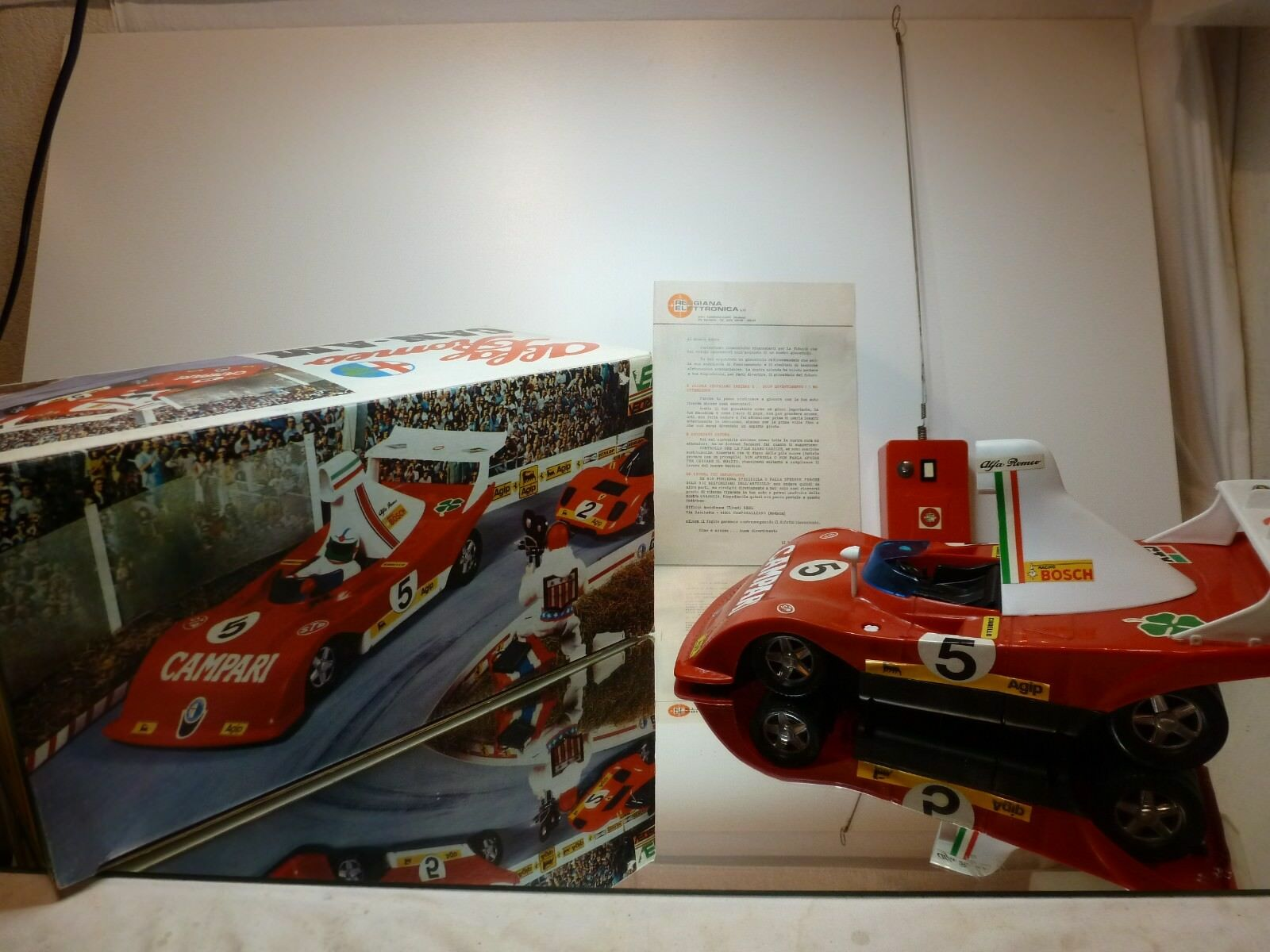 REEL ALFA ROMEO 33 TT 12 CAN AM - RED + WHITE L42.0cm - VERY GOOD IN BOX