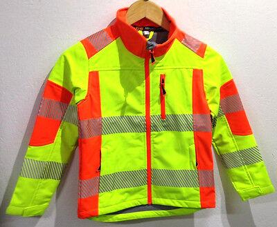 Kinder Warnschutz Softshelljacke Warnjacke Kinderwarnjacke 116-152 Jacke