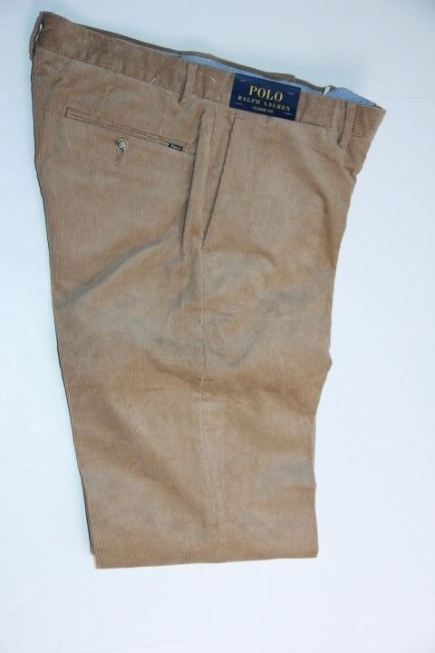 Polo Ralph Lauren Mens Khaki Corduroy Pants Classic Fit  32 x 34