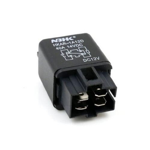 12V 40A Car Automotive Van Boat Truck 4 Pins SPST Alarm Relay Socket Plug Sales