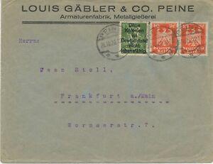 Deutsches Reich 26.10.1926 composés affranchissement A. BF propagande contrefaçon DT. colonies