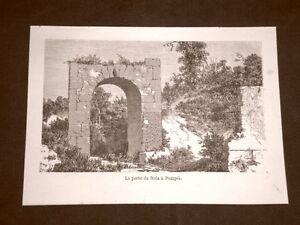 Incisione-del-1865-La-Porta-di-Nola-in-Pompei