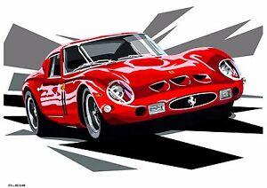 Classic Ferrari 250 GTO Race Car Pop Art Limited Edition ...