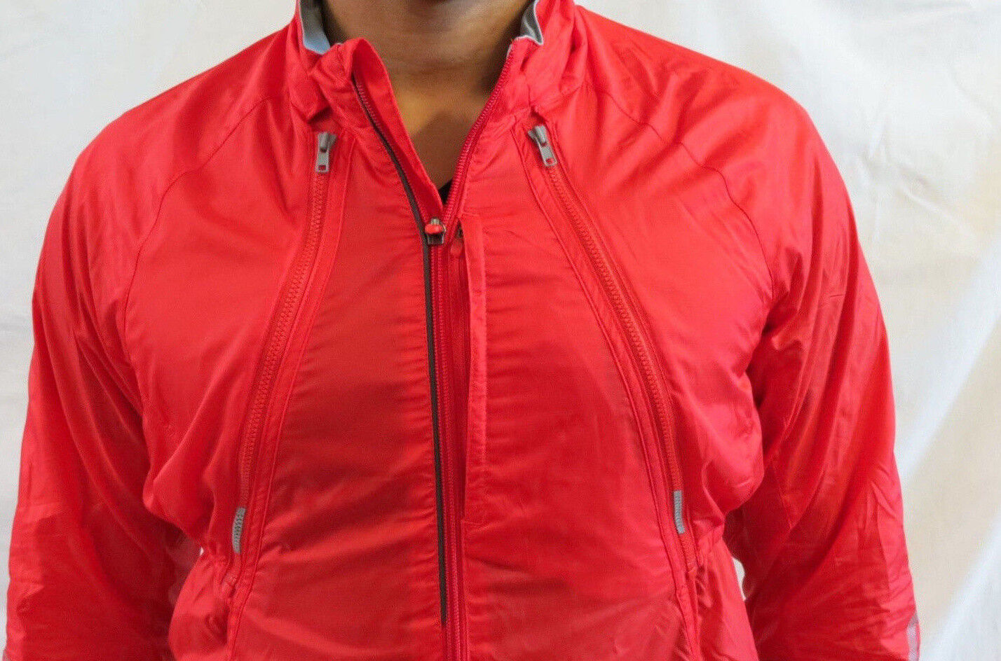 Adidas Sports Bike Jacket Windbreaker Red Zip Apart Medium Authentic New w/ Tags