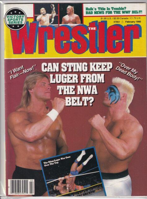 The Wrestler Magazine Sting Lex Luger Hulk Hogan February 1990 061719nonr