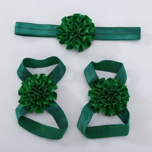3Pcs//set Baby Girls Infant Headband Foot Flower Elastic Hair Band Accessories\~