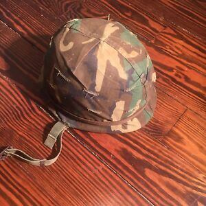 PARATROOPER-MILITARY-HELMET-COMPLETE-WITH-LINER-CAMO-COVER-amp-CHIN-STRAP