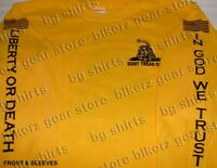 Dont Tread On Me Tea Party Long Sleeve Gold T Shirt S-3x Come And Take It 2a