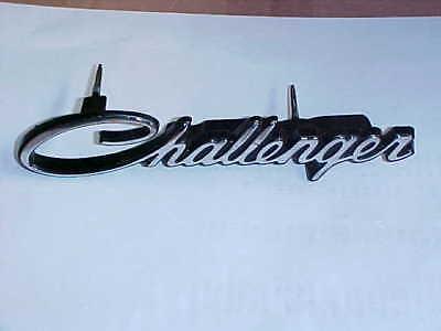 1972 1973 1974 GRILL NAMEPLATE CHALLENGER NOS MoPar EMBLEM Chryco
