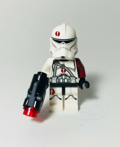 Lego Star Wars Commander Neyo BARC Clone Trooper Minifigure Dark Red 75037
