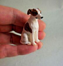 Adorable Dollhouse Miniature Black and White Papillon Dog Figurine #DP47B