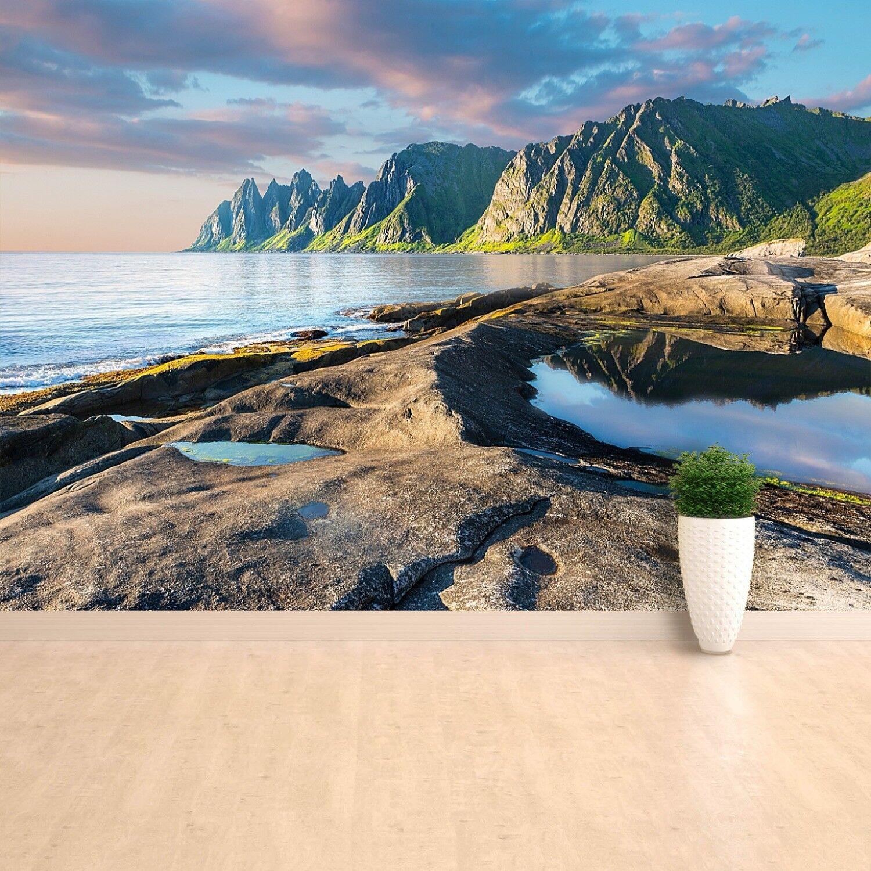 Fototapete Selbstklebend Einfach ablösbar Mehrfach klebbar Berge Norwegen