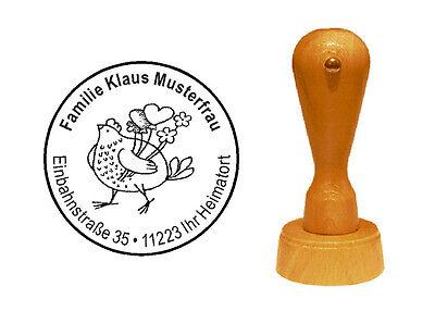 Stempel « Huhn 02 » Adressenstempel Motivstempel Holzstempel