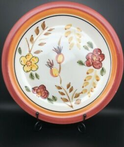 """Royal Norfolk RNF 16, discontinued, 10.5"""" dinner plate, floral earth tones"""