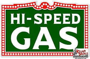"12/"" CITIZENS SPEED GASOLINE GAS PUMP TANK DECAL STICKER"
