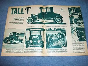 "1921 Ford Model ""T"" Vintage Hot Rod Article ""Tall 'T'"
