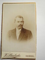 Salzwedel - Mann mit Bart im Anzug - Portrait / CDV