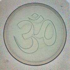 """Flexible Mold OM Sign Symbol Yoga Resin Or Chocolate Mould 2.75"""" X 1/4"""" Deep"""
