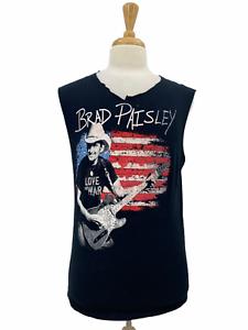 Vintage Brad Paisley Men's Rare Black Concert Tee Destroyed T Shirt Tank Medium