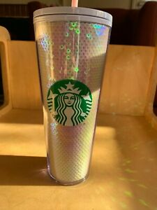 Starbucks 2020 Holiday White Sequins Cold Cup 24oz