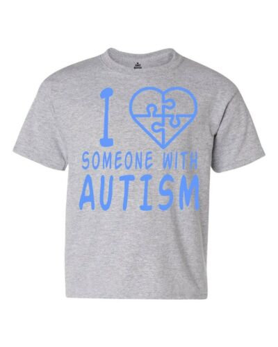 I Love Someone With Autism Youth/'s T-Shirt Autism Awareness Month Shirts