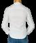 Camicia-Uomo-Slim-Fit-Cotone-Elastico-Manica-Lunga-Tinta-Unita-aderente-BIANCO miniature 11