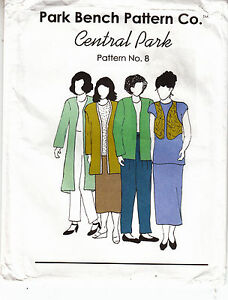 Jacket Vest Shirt Pants Skirt Variations 8 Park Bench Pattern