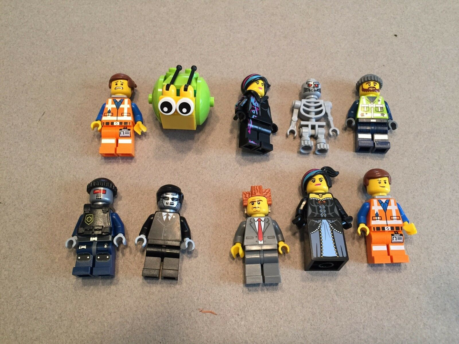 LEGO Movie minifig lot of 10 President Business Executron Minifigure lot J341