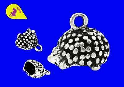 10 Hedgehog 14 x 12 mm A581 P & P £1 per delivery Tibetan Silver Zinc Alloy