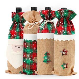 Christmas-Wine-Bottle-Bag-Cover-Christmas-Home-Table-Decor-Ornaments-Santa-Claus