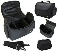 Large Deluxe Camera Carrying Case Bag For Sony Hdr-cx455 Hdr-cx675
