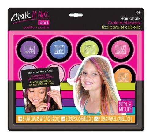 Style Me UP Hair Chalk Haarkreide auswaschbar Set Kinder Teens NEU Haare
