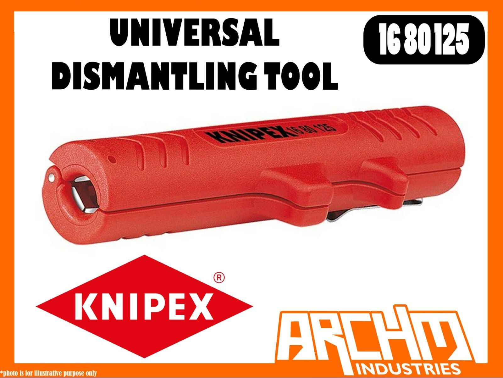 KNIPEX 1680125 -  UNIVERSAL DISMANTLING TOOL - 125MM STRIPPING CABLES