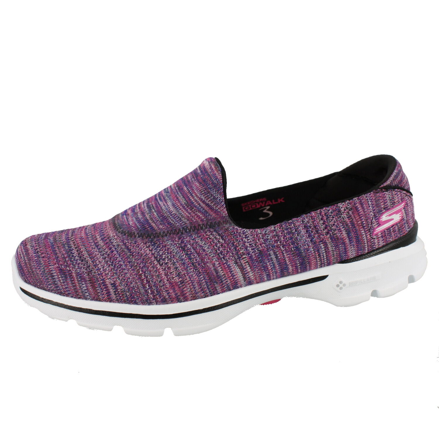 WOMENS SKECHERS GO WALK 3 FITKNIT EXTREME 13987 SLIP ON SHOES
