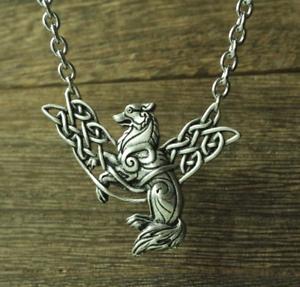 Viking Celtic Wolf Pictish Fenrir Norse Necklace