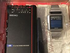 Vintage Authentic Seiko TV Watch Featured in James Bond Film Octopussy RARE