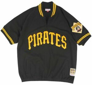 los angeles 048bf fc952 Mitchell & Ness Pittsburgh Pirates 1991 Quarter Zip Authentic Jersey Men  Medium