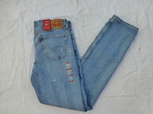 Mens 69 Éclaboussures Jeans Nwt peinture 04511 Slim Levis 2739 511 de 1RXSfdq