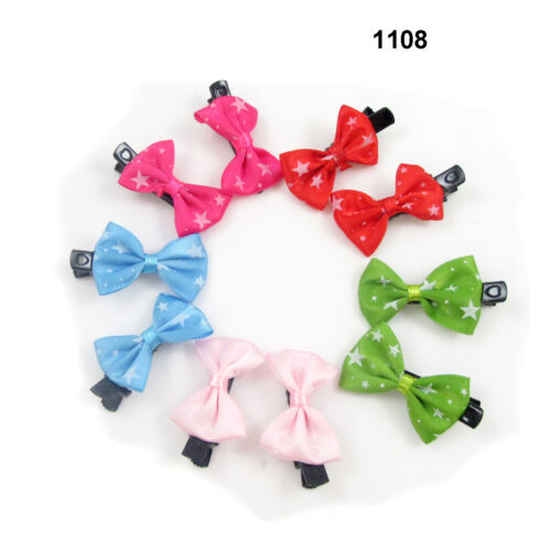 10  PIECES Small Girls Hair Bow Clips Accessories kids Party Pattern Gift Baby