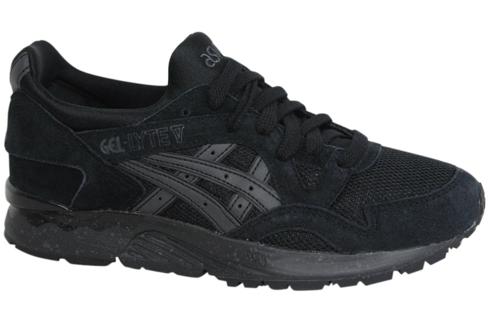 Asics Gel-Lyte V Lace Up Black Mens Leather Trainers H5R2N 9090 M9