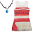 Moana-Princess-Kid-Girl-Fancy-Party-Dress-Up-Outfits-Cosplay-Costumes-Necklace thumbnail 7