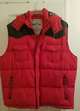 Parish Nation 3xl Red Puff Vest w/ Leather black Shoulder