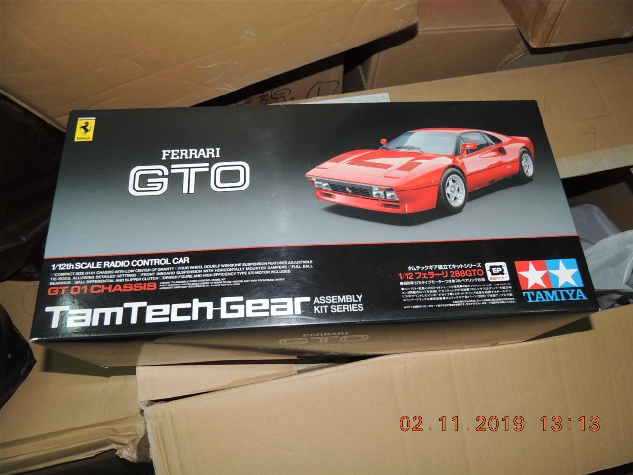 Tamiya R C 1 12 Tamtech Gear Ferrari 288 Gto GT01 Kit