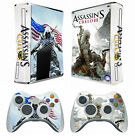 Assassin 211 Vinyl Decal Skin Sticker for Xbox360 slim and 2 controller skins