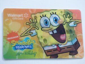 Walmart-Gift-Card-Lenticular-Spongebob-Squarepants-Collectible-No-Value