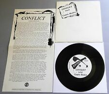 """Conflict - Live At Centro Iberico 1982 Xntix 7"""" Single with Insert"""