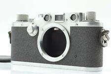* 几乎完好 * 徕卡 IIIC 鲨鱼皮肤测距仪 35mm 胶片相机日本制造